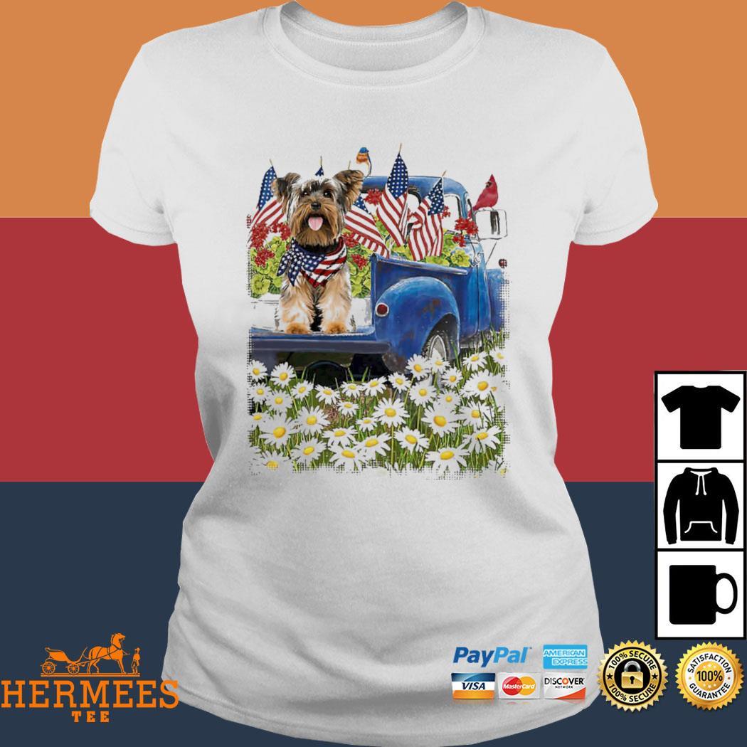 Yorkshire Terrier Blue Truck Shirt Ladies Tee