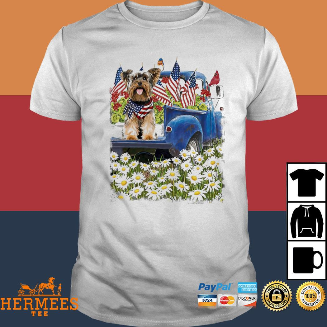 Yorkshire Terrier Blue Truck Shirt